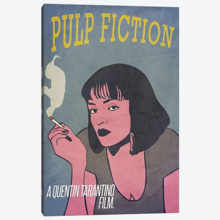 Pulp Fiction Alternative Poster Canvas Print #PTE59} by Popate Canvas Art Print