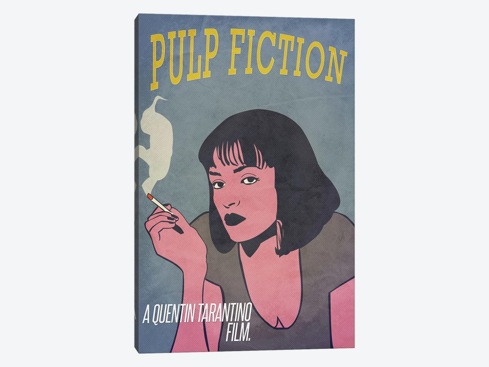 Pulp Fiction Alternative Poster by Popate 1-piece Canvas Wall Art
