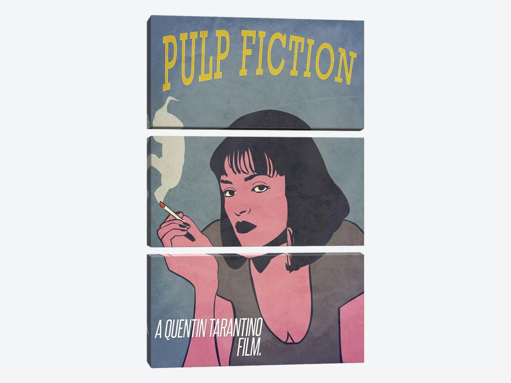 Pulp Fiction Alternative Poster by Popate 3-piece Canvas Art