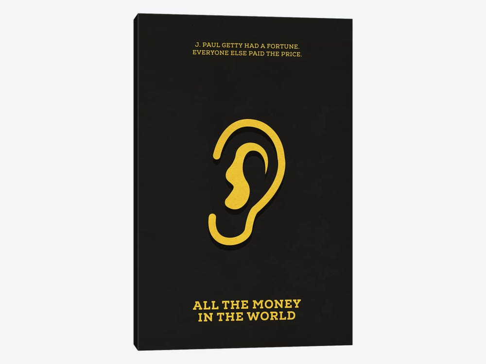 All The Money In The World Minimalist Poster by Popate 1-piece Canvas Art Print