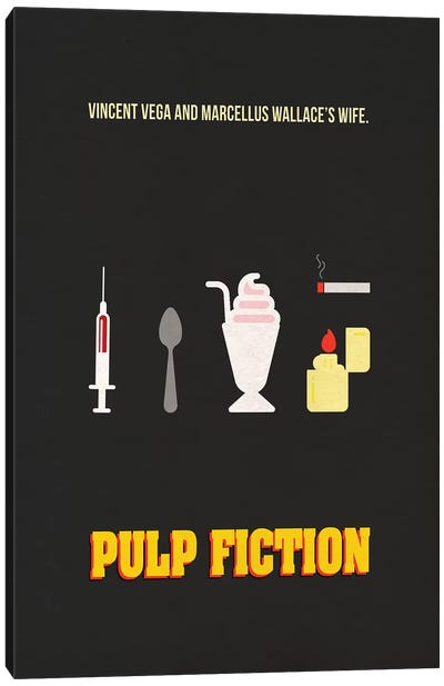 Pulp Fiction Minimalist Poster Canvas Art Print