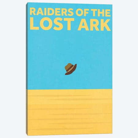 Raiders Of The Lost Ark Minimalist Poster Canvas Print #PTE61} by Popate Canvas Art