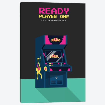 Ready Player One Minimalist Poster Canvas Print #PTE62} by Popate Canvas Artwork