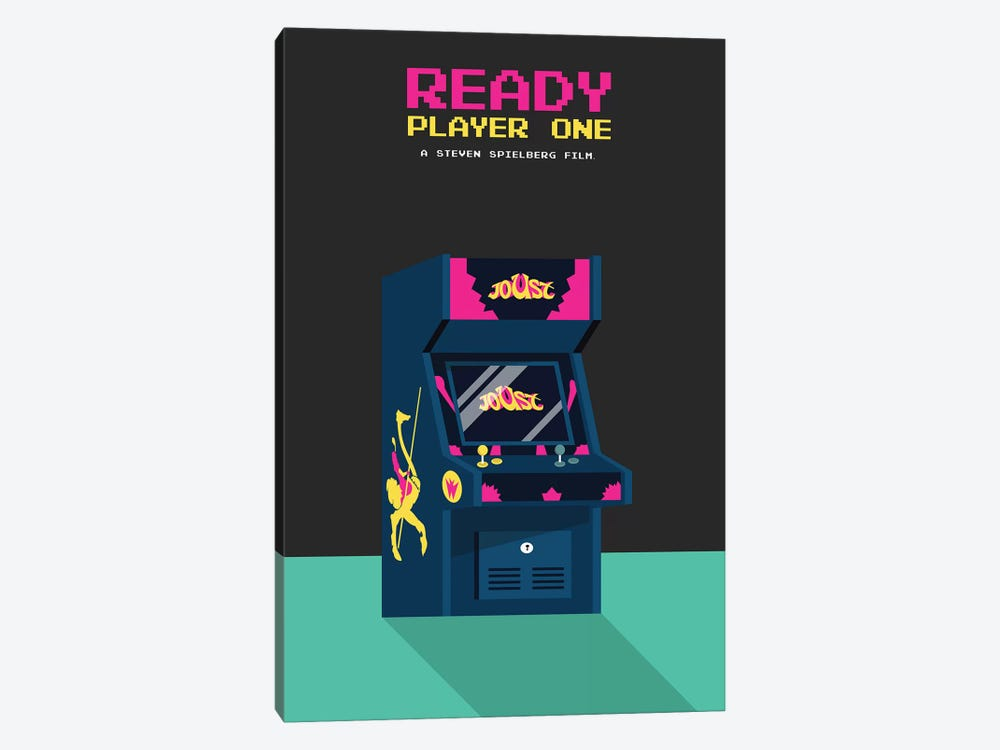 Ready Player One Minimalist Poster by Popate 1-piece Canvas Artwork