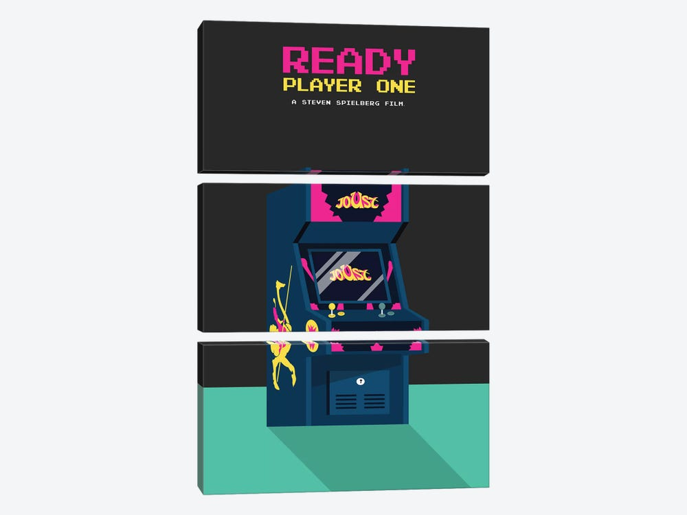 Ready Player One Minimalist Poster by Popate 3-piece Canvas Wall Art