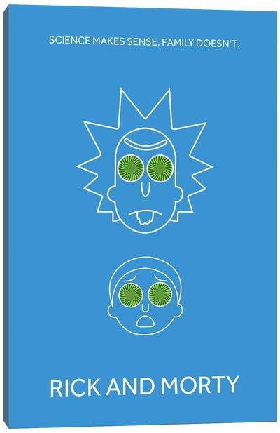 Rick And Morty Minimalist Poster Canvas Art Print