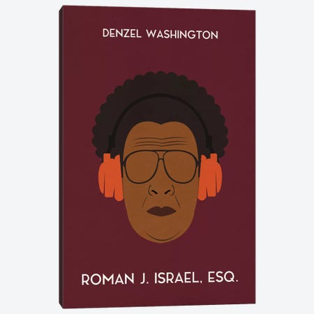 Roman J. Israel Esq. Minimal Poster Canvas Print #PTE64} by Popate Canvas Art Print
