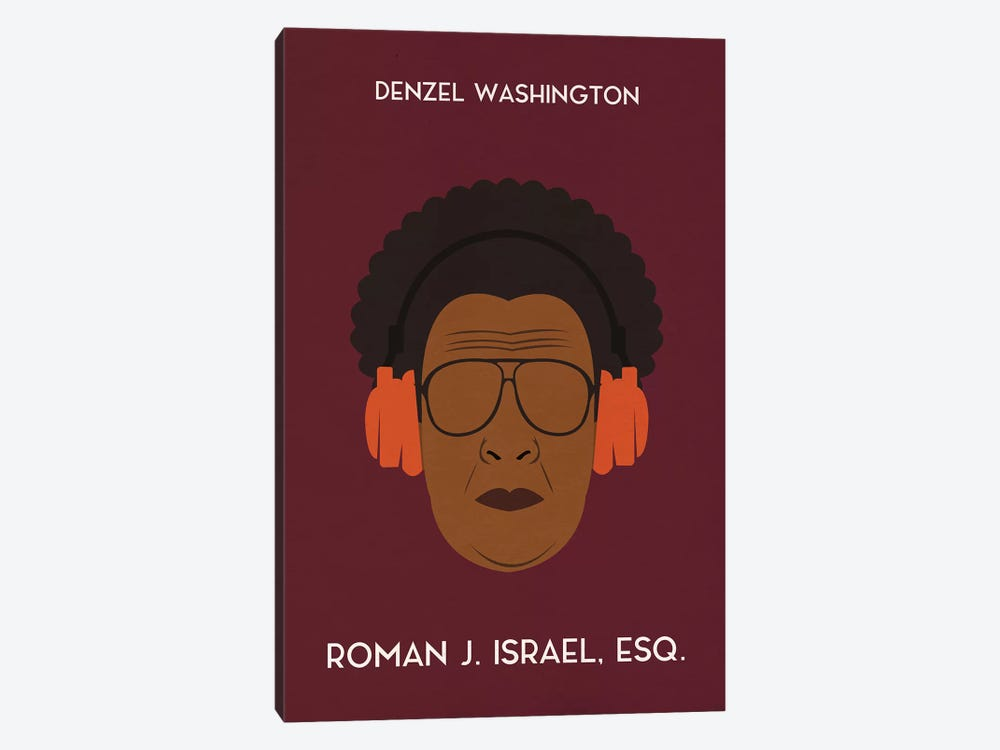 Roman J. Israel Esq. Minimal Poster by Popate 1-piece Canvas Wall Art