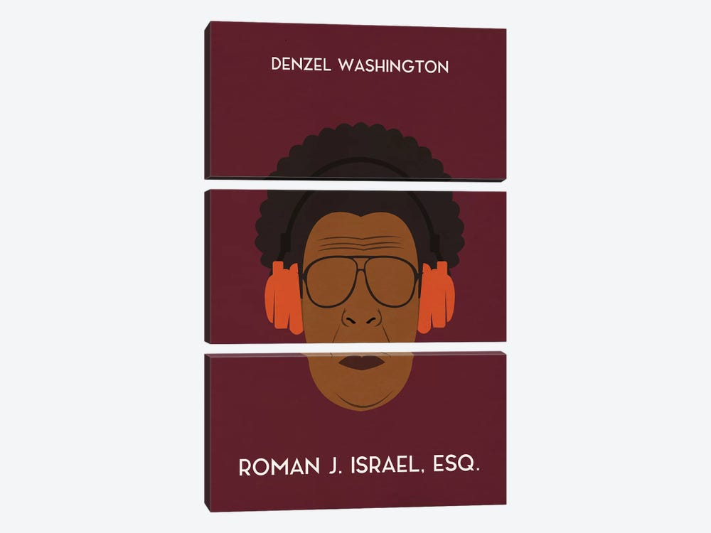 Roman J. Israel Esq. Minimal Poster by Popate 3-piece Canvas Art