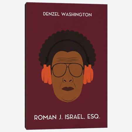Roman J. Israel Esq. Minimal Poster Canvas Print #PTE64} by Popate Canvas Art Print