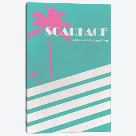 Scarface Vintage Poster Canvas Print #PTE65} by Popate Canvas Print