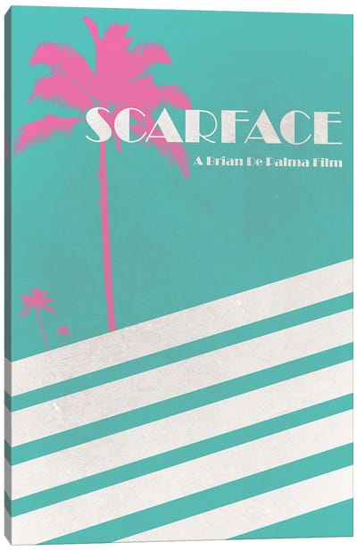 Scarface Vintage Poster Canvas Art Print