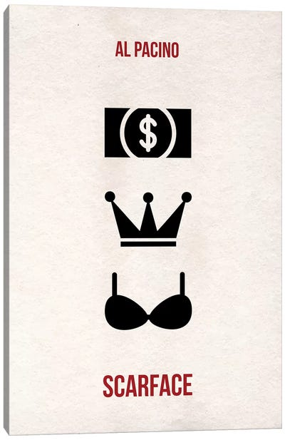 Scarface, Money Power Women Minimalist Poster Canvas Art Print