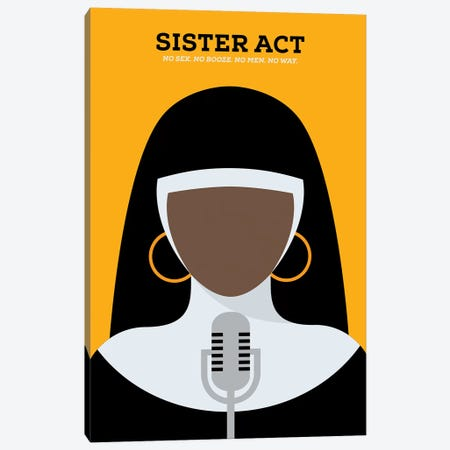 Sister Act Minimalist Poster Canvas Print #PTE67} by Popate Art Print