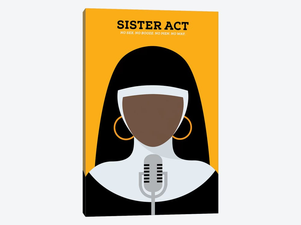 Sister Act Minimalist Poster by Popate 1-piece Canvas Art Print