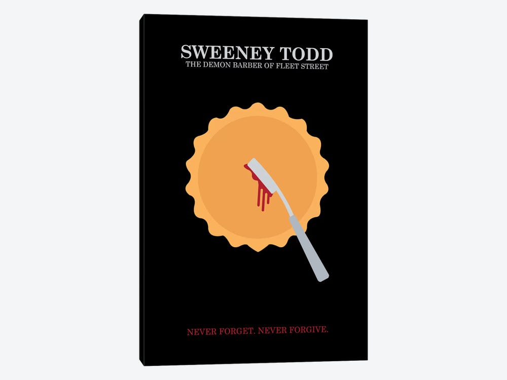 Sweeney Todd Minimalist Poster by Popate 1-piece Canvas Art Print