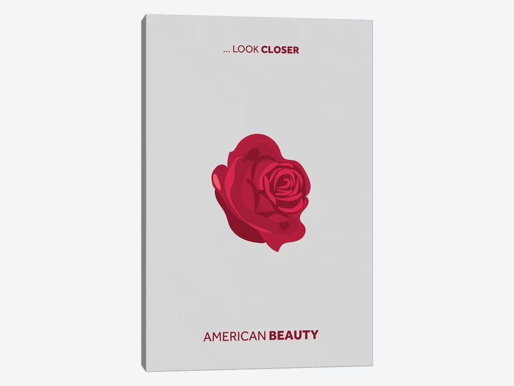 American Beauty Minimalist Poster by Popate 1-piece Canvas Art