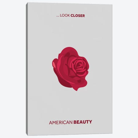 American Beauty Minimalist Poster Canvas Print #PTE6} by Popate Canvas Art