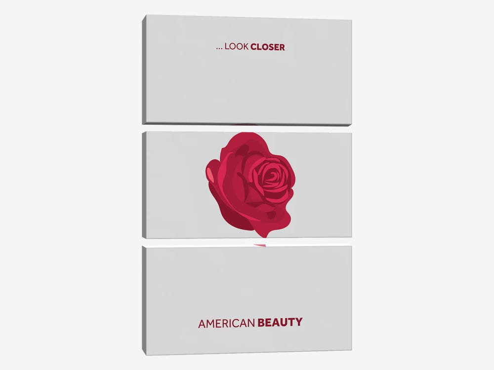 American Beauty Minimalist Poster by Popate 3-piece Canvas Artwork