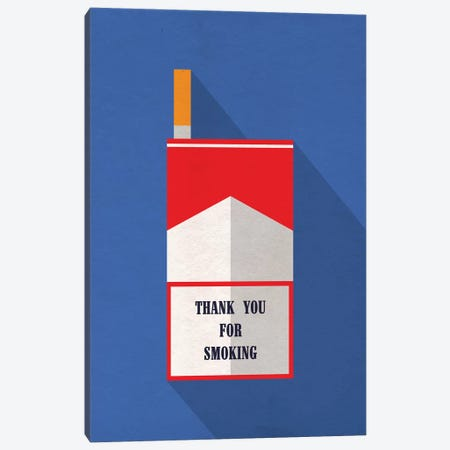 Thank You For Smoking Minimalist Poster Canvas Print #PTE70} by Popate Canvas Art Print