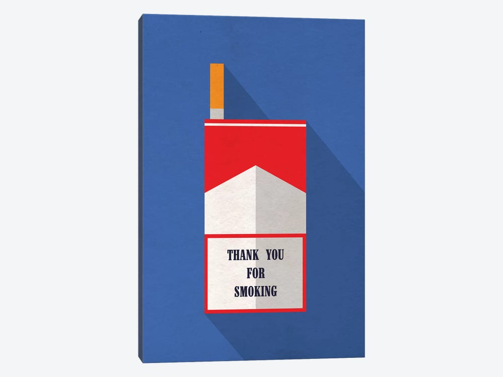 Thank You For Smoking Minimalist Poster by Popate 1-piece Canvas Print