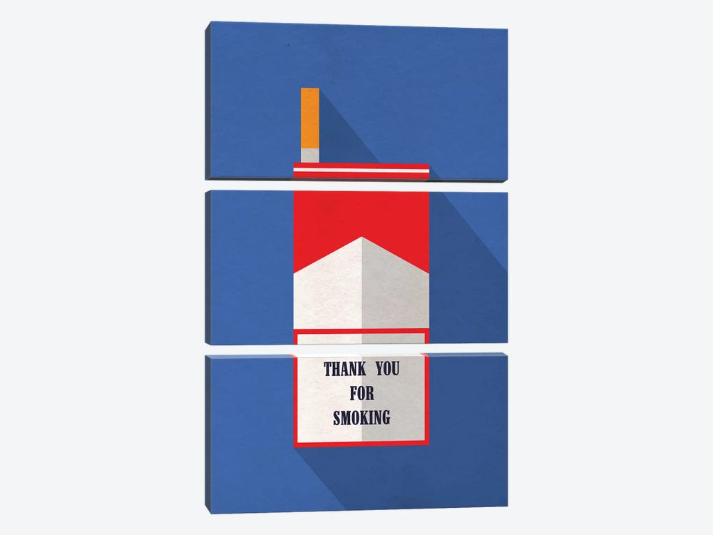 Thank You For Smoking Minimalist Poster by Popate 3-piece Art Print