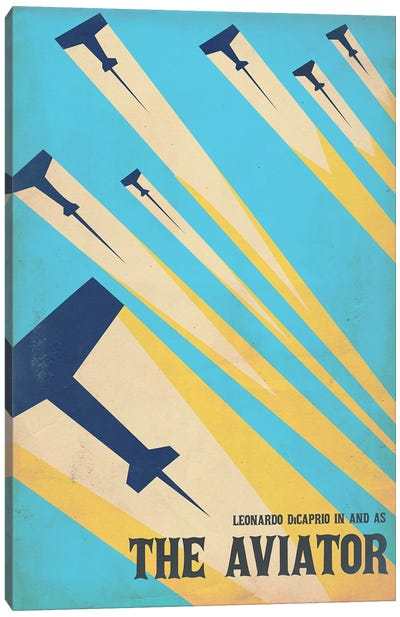 The Aviator Vintage Poster Canvas Art Print