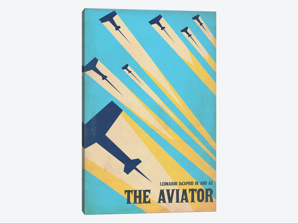 The Aviator Vintage Poster by Popate 1-piece Canvas Wall Art