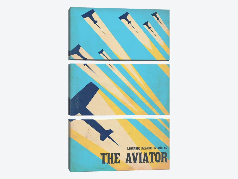 The Aviator Vintage Poster by Popate 3-piece Canvas Wall Art