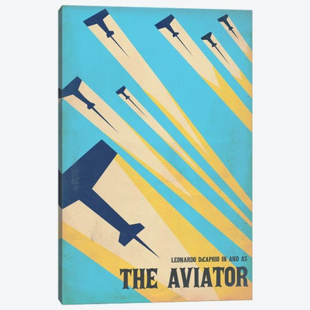 The Aviator Vintage Poster 3-Piece Canvas #PTE71} by Popate Canvas Print