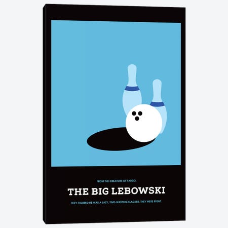 The Big Lebowski Minimalist Poster I Canvas Print #PTE72} by Popate Art Print