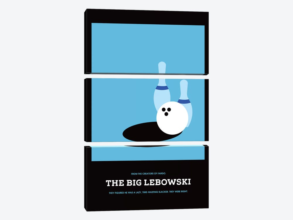 The Big Lebowski Minimalist Poster I 3-piece Canvas Print