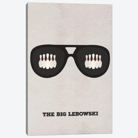 The Big Lebowski Minimalist Poster II Canvas Print #PTE73} by Popate Canvas Print