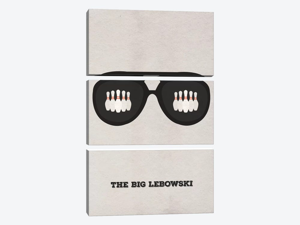 The Big Lebowski Minimalist Poster II 3-piece Canvas Art