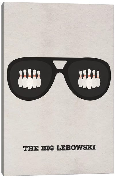 The Big Lebowski Minimalist Poster II Canvas Art Print