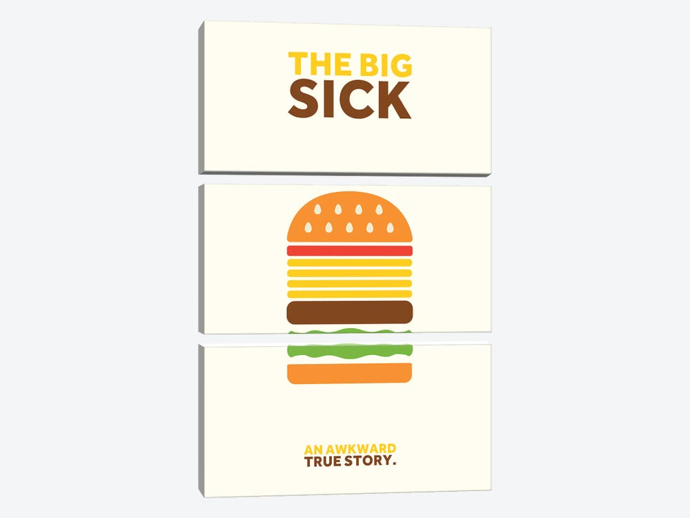The Big Sick Minimalist Poster by Popate 3-piece Art Print