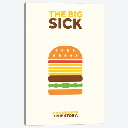 The Big Sick Minimalist Poster 3-Piece Canvas #PTE74} by Popate Canvas Artwork