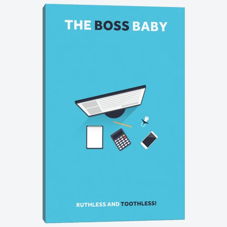 The Boss Baby Minimalist Poster Canvas Print #PTE75} by Popate Canvas Artwork