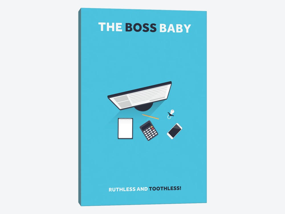 The Boss Baby Minimalist Poster by Popate 1-piece Canvas Artwork