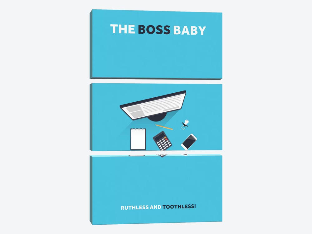 The Boss Baby Minimalist Poster by Popate 3-piece Canvas Wall Art