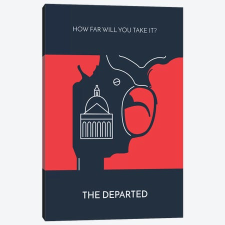 The Departed Minimalist Poster Canvas Print #PTE76} by Popate Canvas Wall Art