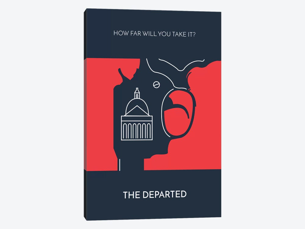 The Departed Minimalist Poster by Popate 1-piece Canvas Print