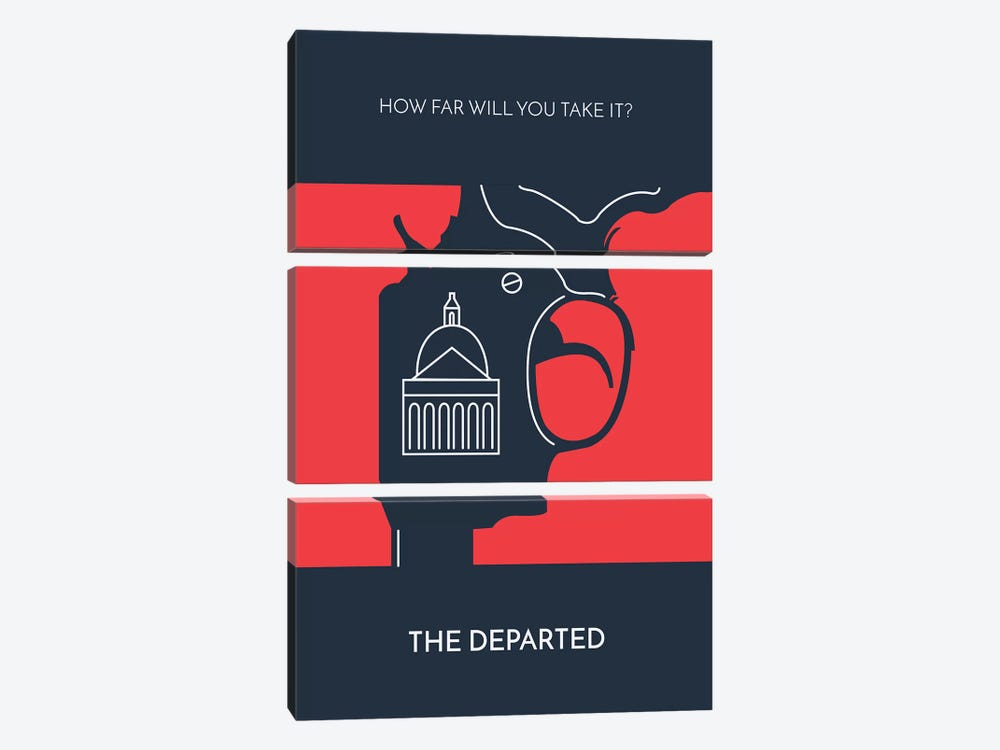 The Departed Minimalist Poster by Popate 3-piece Art Print
