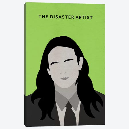 The Disaster Artist Minimalist Poster Canvas Print #PTE77} by Popate Canvas Artwork
