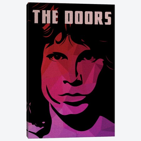The Doors Jim Morrison Portrait Canvas Print #PTE78} by Popate Art Print