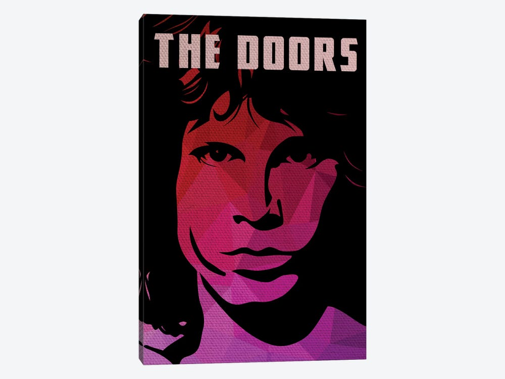 The Doors Jim Morrison Portrait by Popate 1-piece Canvas Art Print