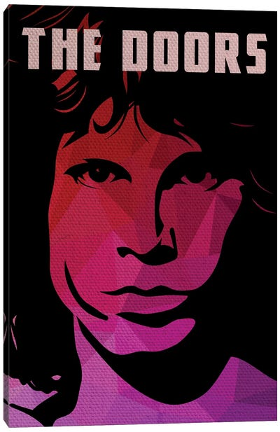 The Doors Jim Morrison Portrait Canvas Art Print