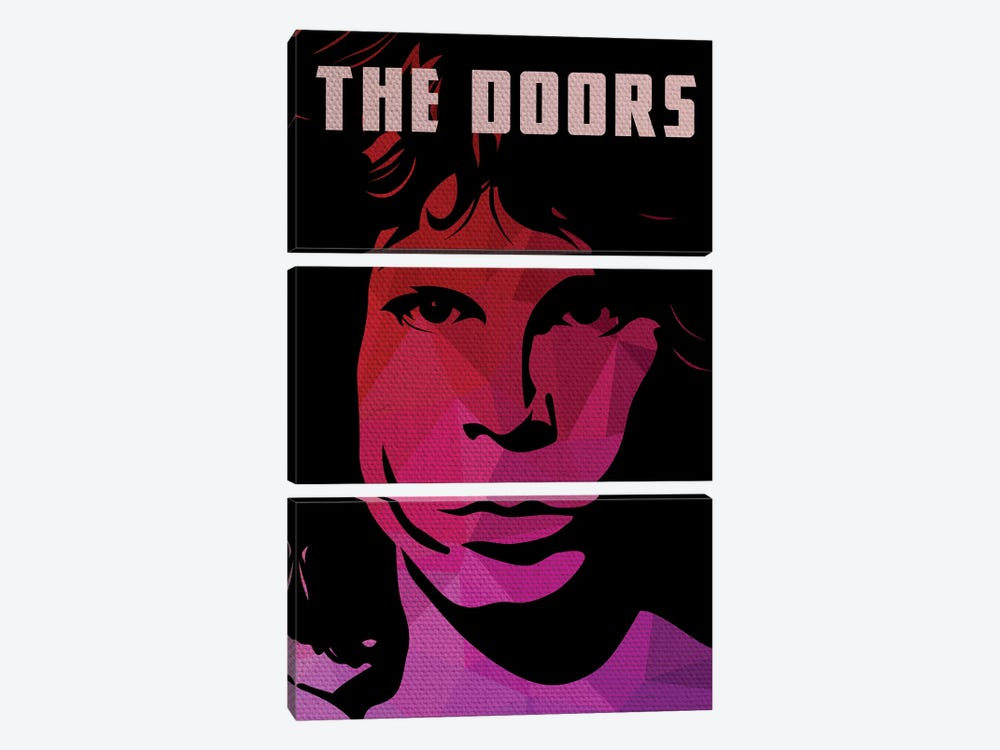 The Doors Jim Morrison Portrait by Popate 3-piece Canvas Art Print