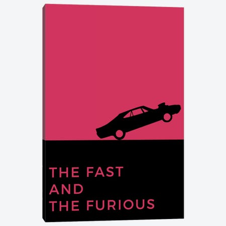 The Fast And The Furious Minimalist Poster Canvas Print #PTE79} by Popate Canvas Print