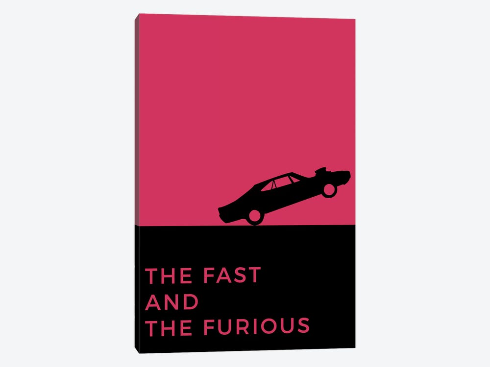 The Fast And The Furious Minimalist Poster by Popate 1-piece Canvas Art